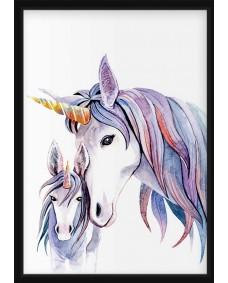 POSTER - Akvarell Unicorn