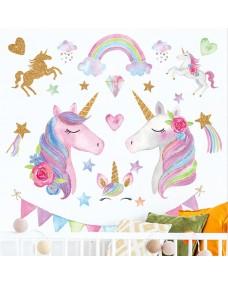 VÄGGDEKOR - Glitter Unicorns