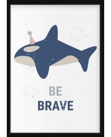 POSTER - Havsdjur, be brave