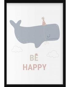 POSTER - Havsdjur, be happy