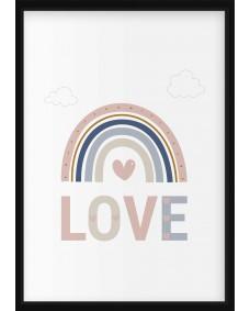 POSTER - Regnbåge, Love