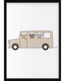 POSTER - Buss med björnar