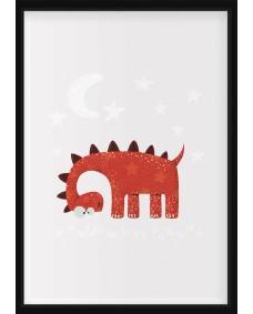 POSTER - Dino med stjärnor