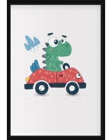 POSTER - Dino i bil