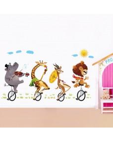 Väggdekor -  Cyklande djur