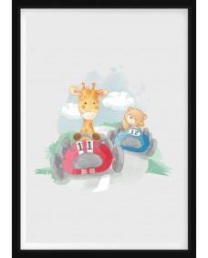POSTER - Nalle och Giraff Race