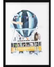 POSTER - Luftballong med Buss