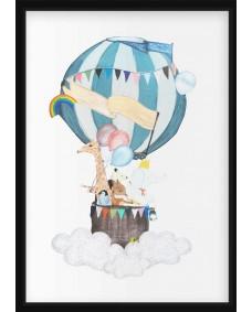 POSTER - Luftballong med Giraff