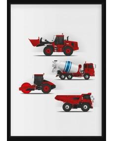 POSTER - Röda fordon