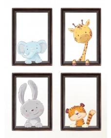Väggdekor -  Pop out djur djungeldjur