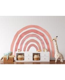 Väggdekor - Mega regnbåge rosa akvarell