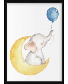 POSTER - Elefant på månen