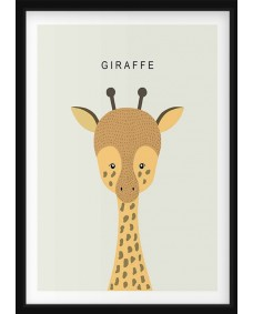 POSTER - Giraff med text