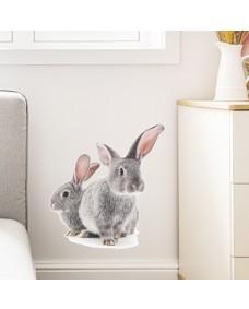 Väggdekor - Kaniner / sittande
