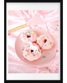 POSTER - Pink donuts