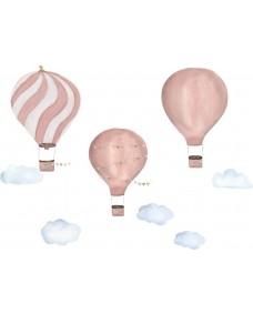VÄGGDEKOR - Sagornas luftballonger rosa