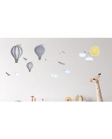 VÄGGDEKOR - Sagornas luftballonger blå
