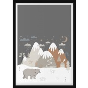 POSTER - Björn i bergslandskap