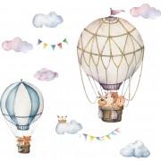 Väggdekor - Luftballong Med Uggla