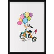 POSTER - Trehjuling med ballonger