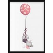 POSTER - Liten mus med ballong