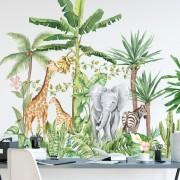 Väggdekor - Akvarell djungel