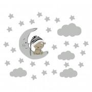 VÄGGDEKOR - Nallebjörn på månen