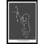 PERSONLIG BABY POSTER -  Oxen