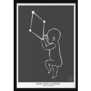 PERSONLIG BABY POSTER -  Vågen