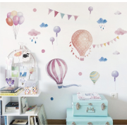 Väggdekor - Akvarell Ballonger
