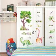 Väggdekor - Akvarell Dinosaurer